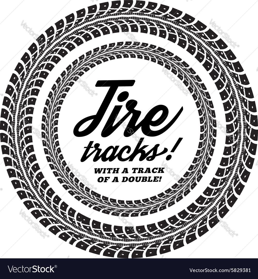 Tire Tracks Royalty Free Vector Image Vectorstock