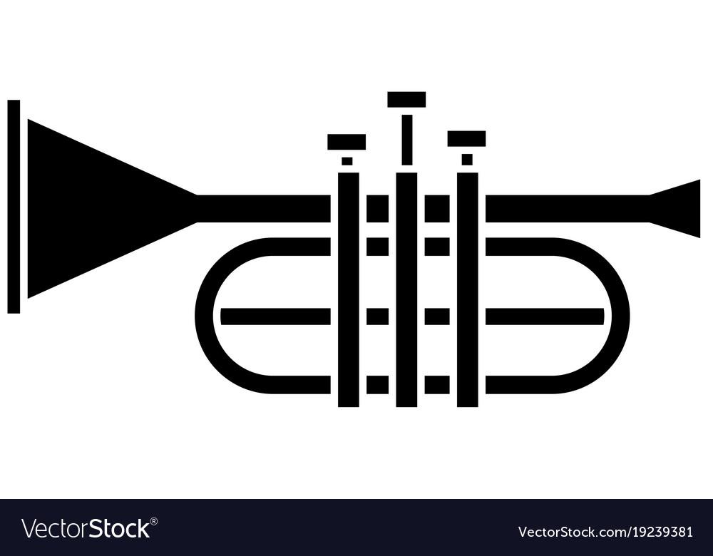 Trumpet Music Instrument Symbol Royalty Free Vector Image