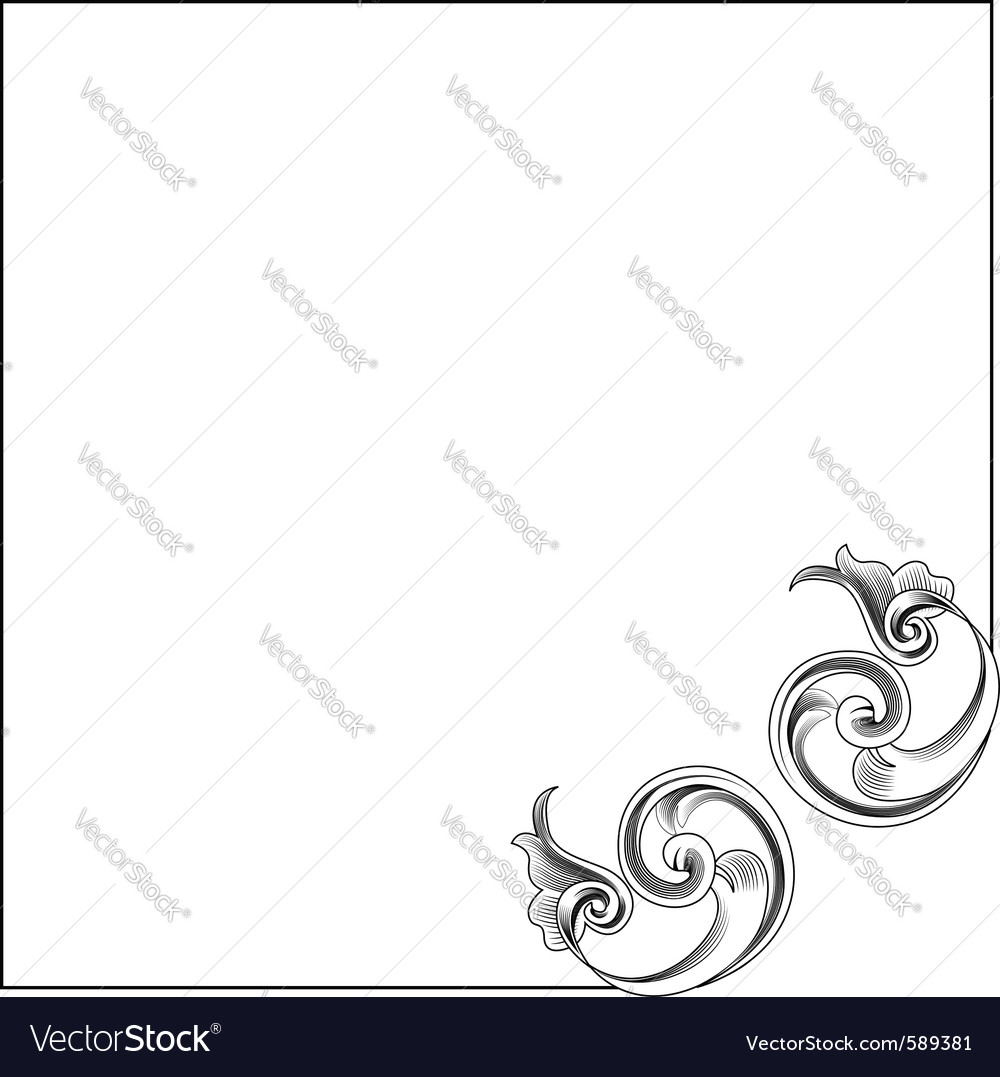 Victorian style corner decoration vector image