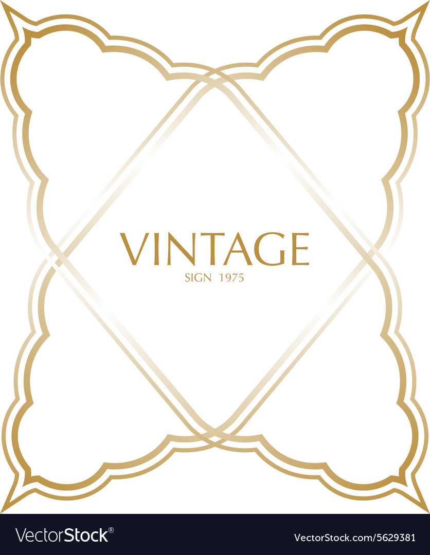 Vintage frame badges and labels background