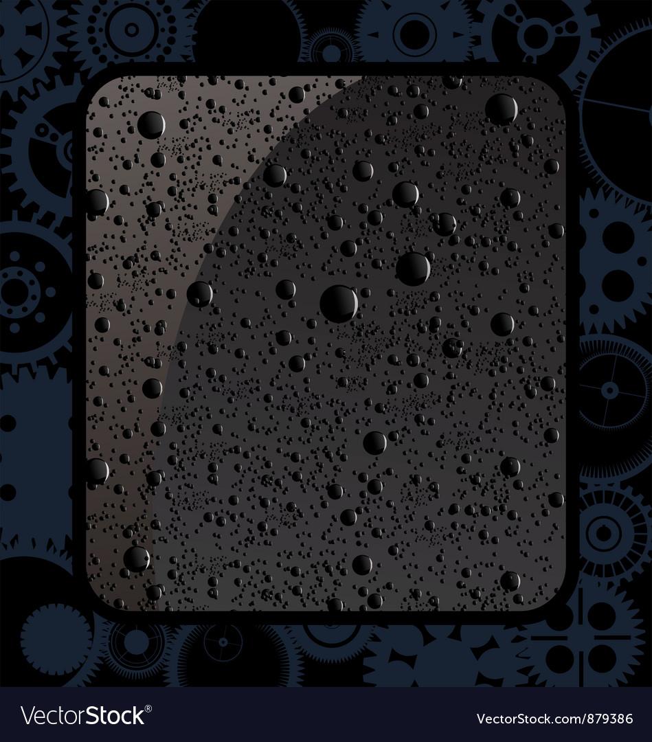 Black water drops