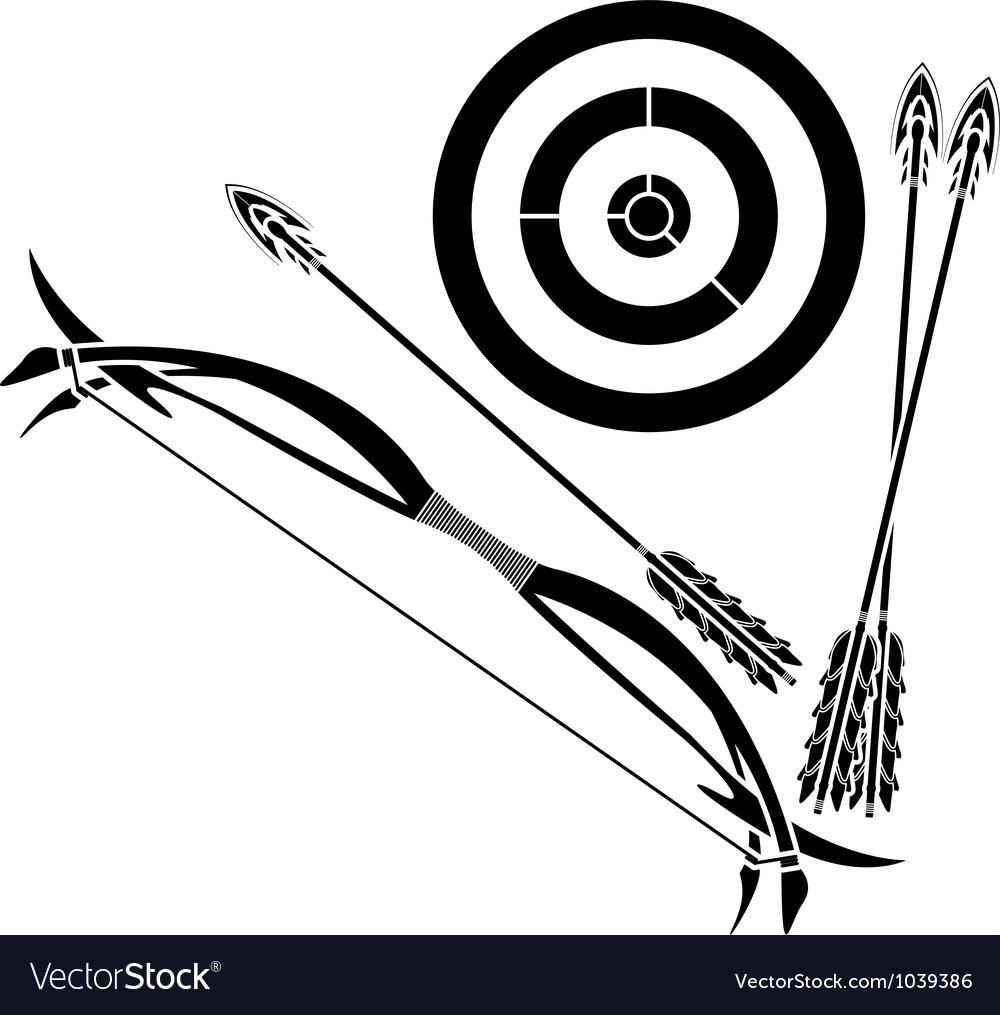 Bow and target vector image