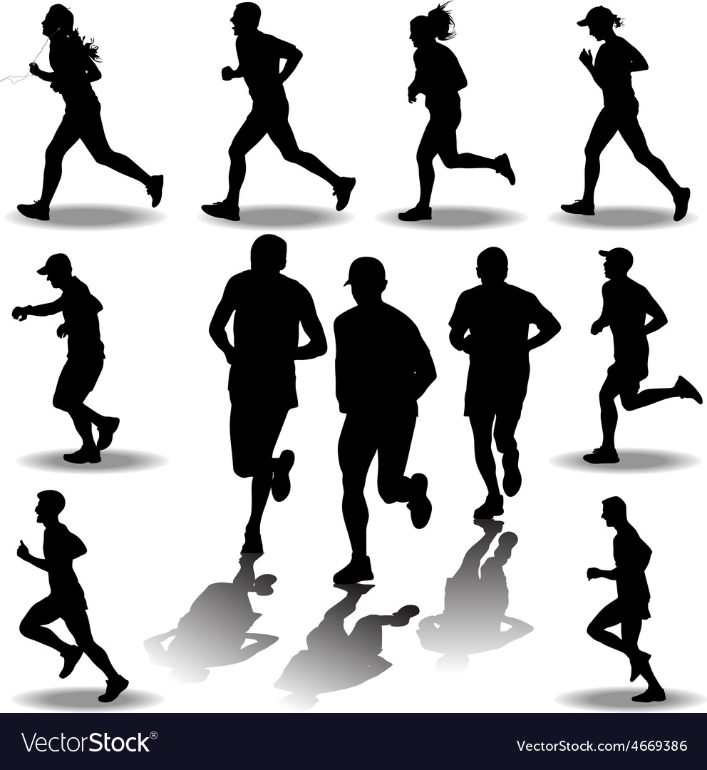 Runner silhouette vector image