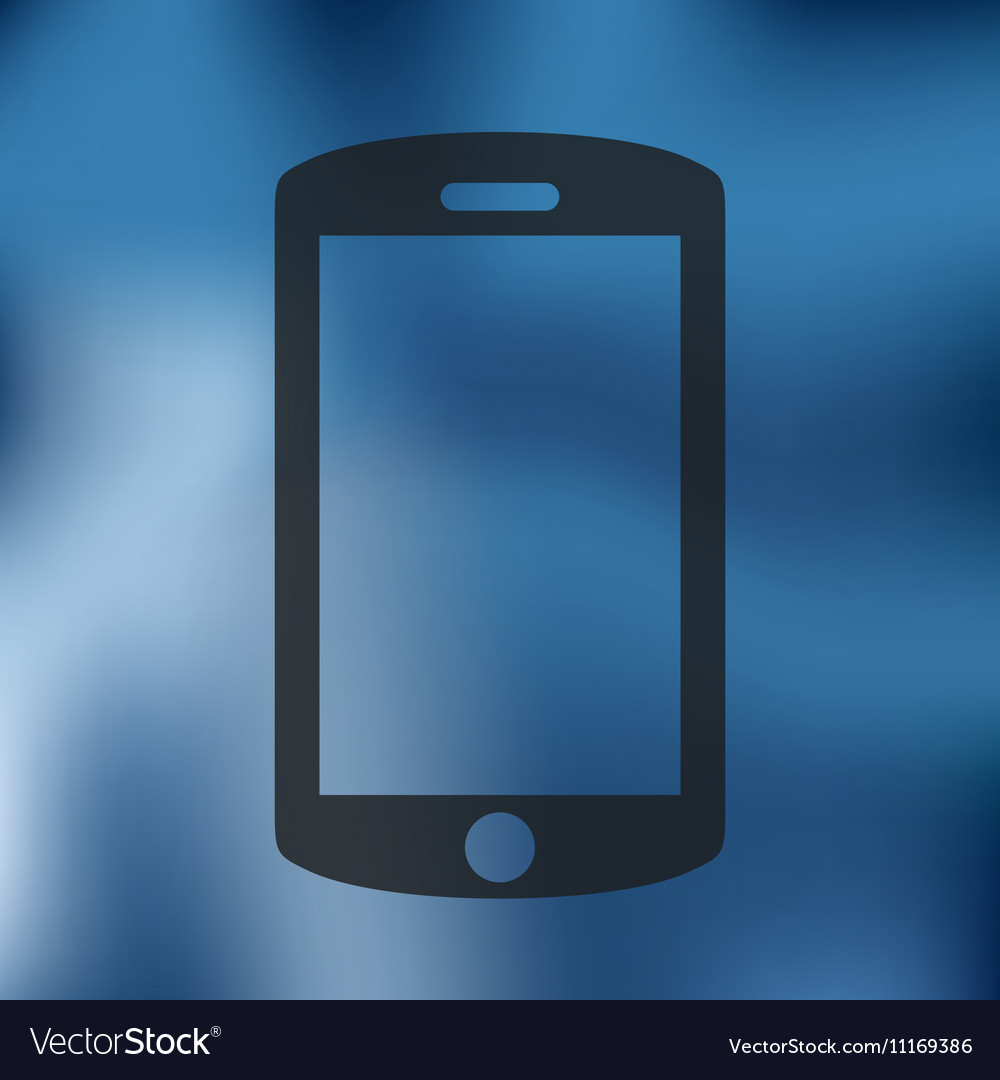 Smartphone icon on blurred background