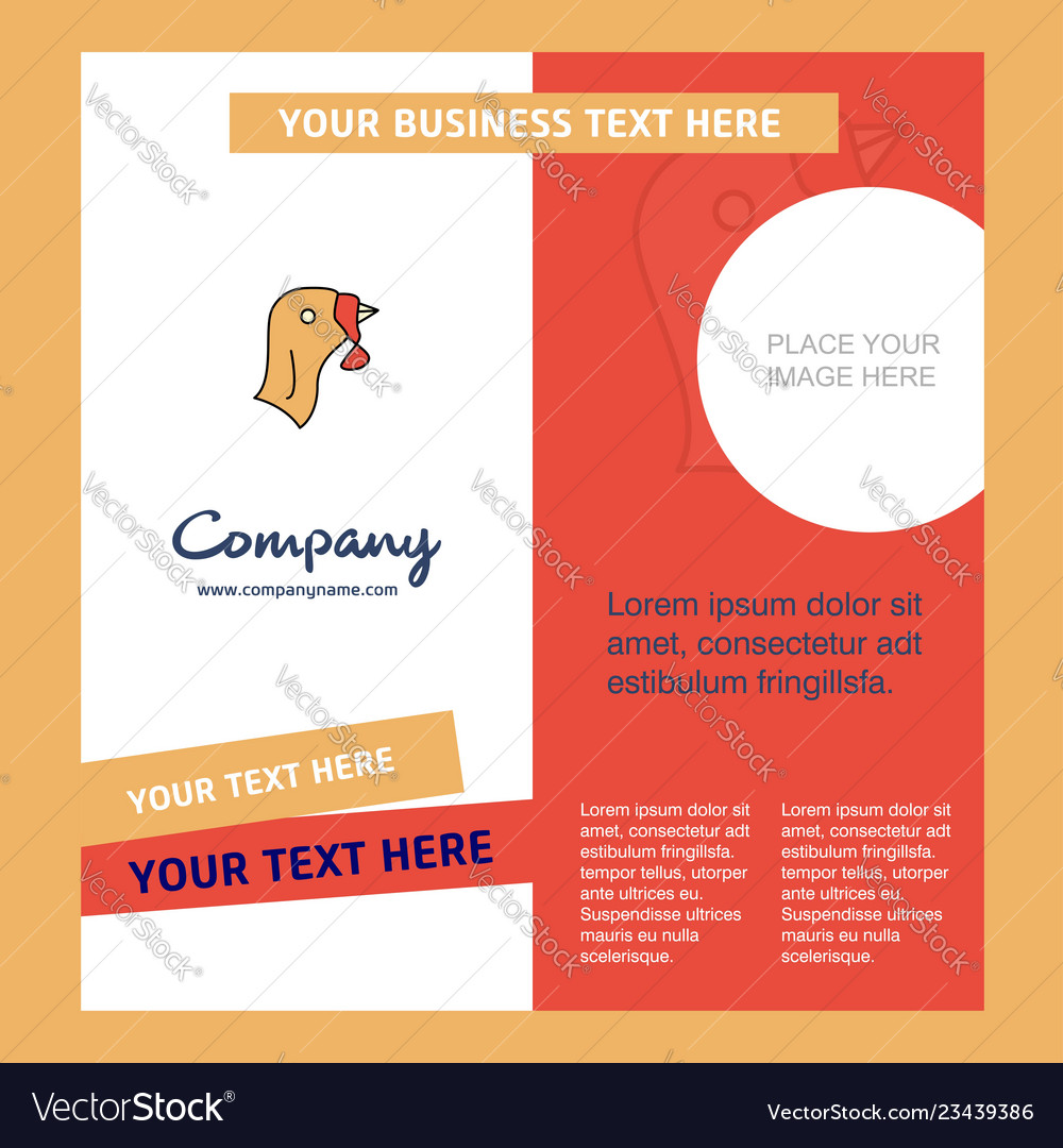Turkey company brochure template busienss template