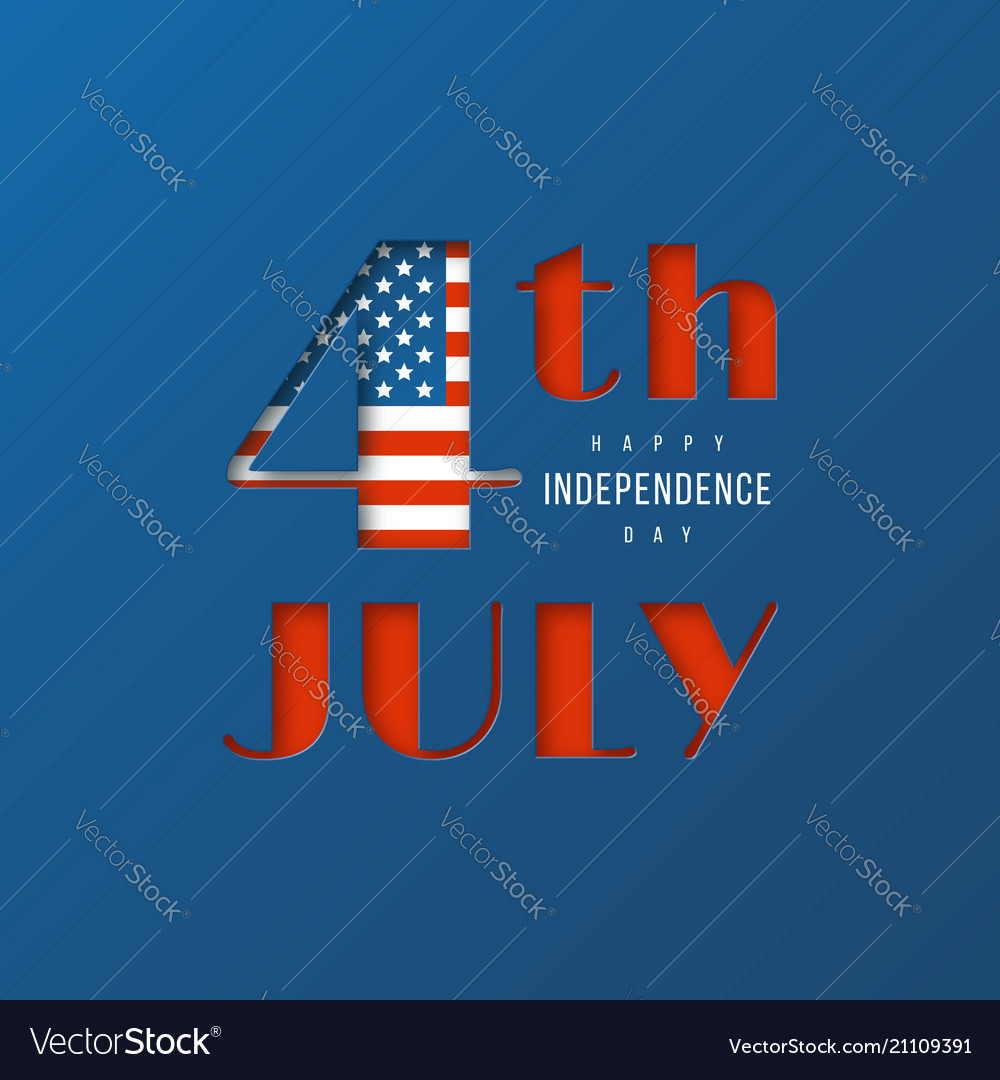 4th of july - independence day of america 3d