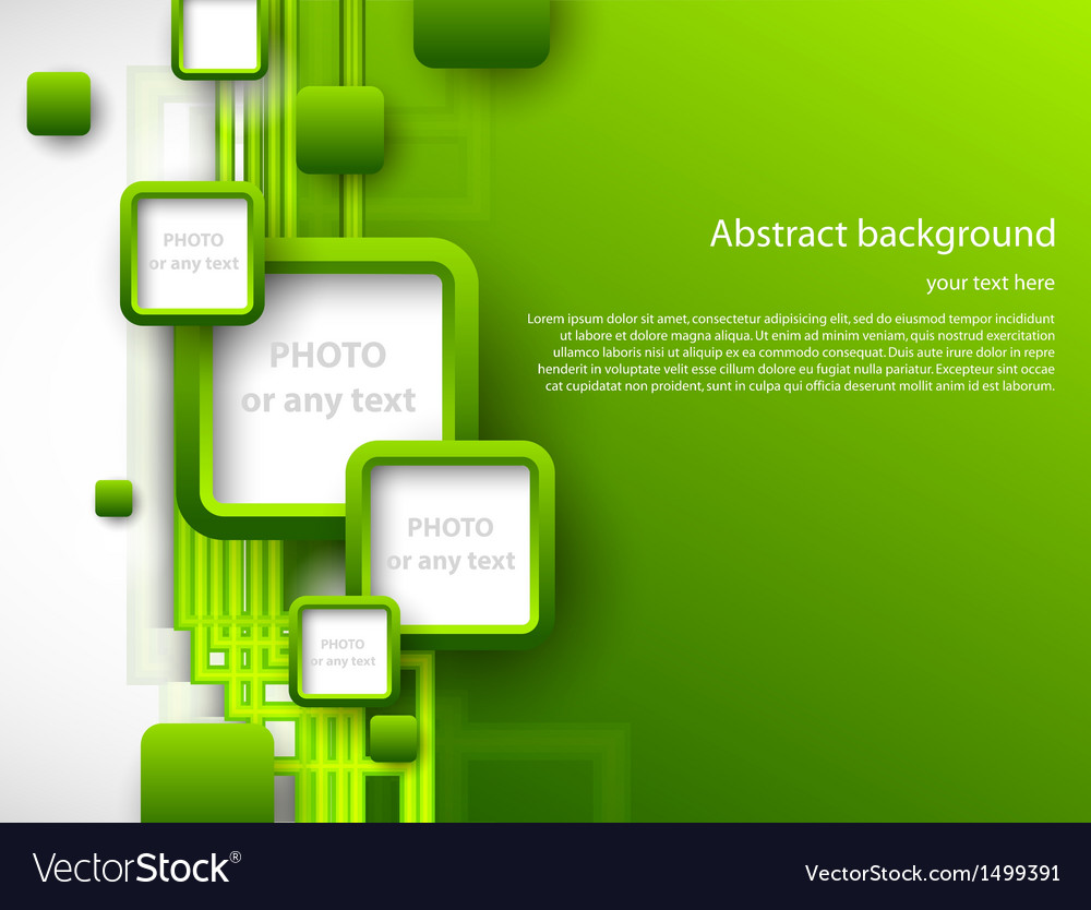 Abstract green brochure