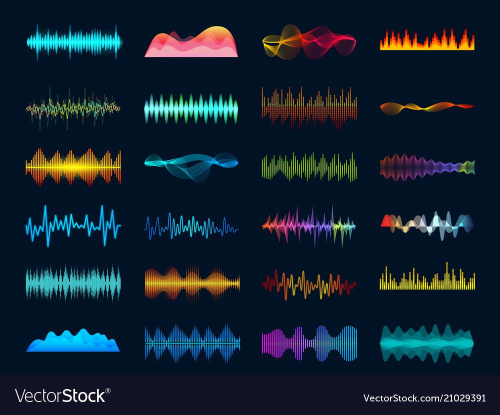 Audio waveform signals wave song equalizer