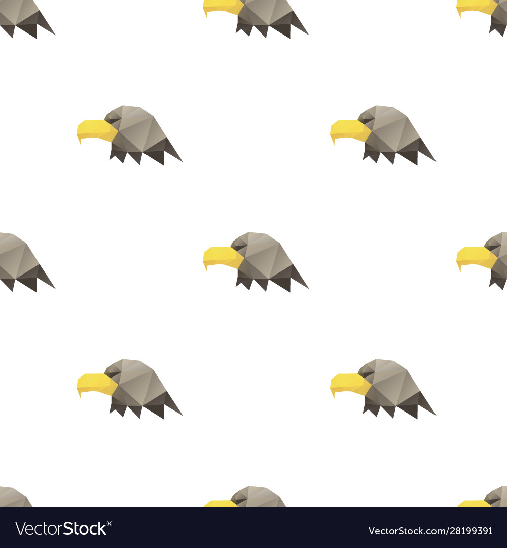 Eagle head triangle pattern backgrounds