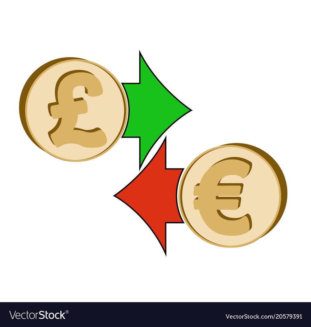 Exchange British Pound To Euro Royalty Free Vector Image
