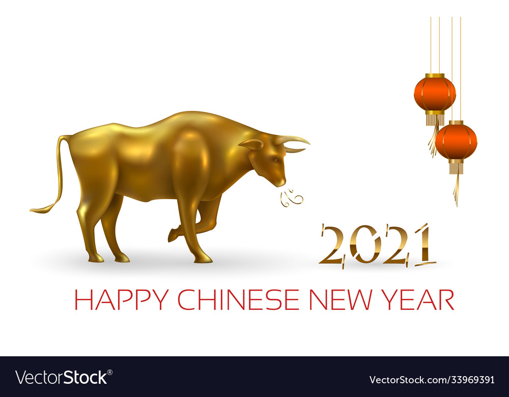 Happy chinese new year 2021 year ox lunar