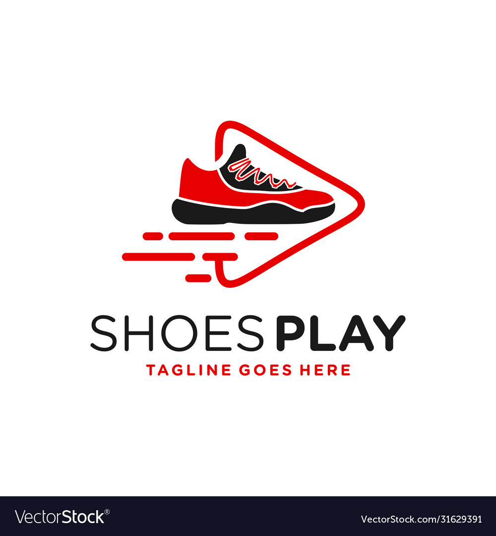 Modern shoe game logo vector
