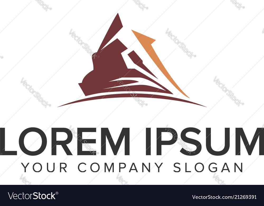 Moutain logo design concept template