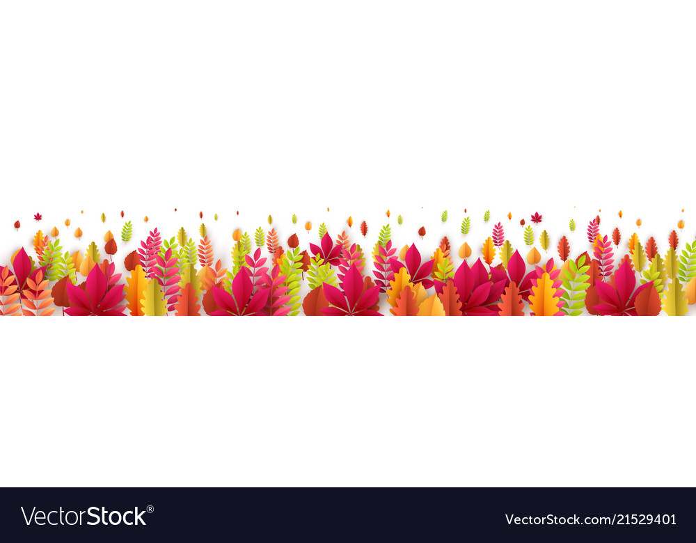 Autumn banner with fall leaves