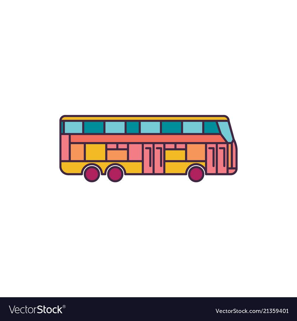 Bus icon cartoon style
