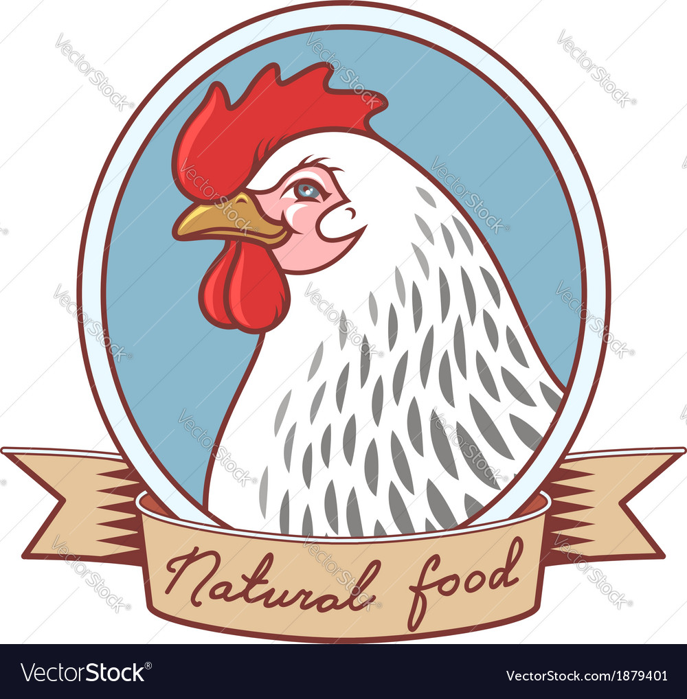 Chicken emblem ribbon