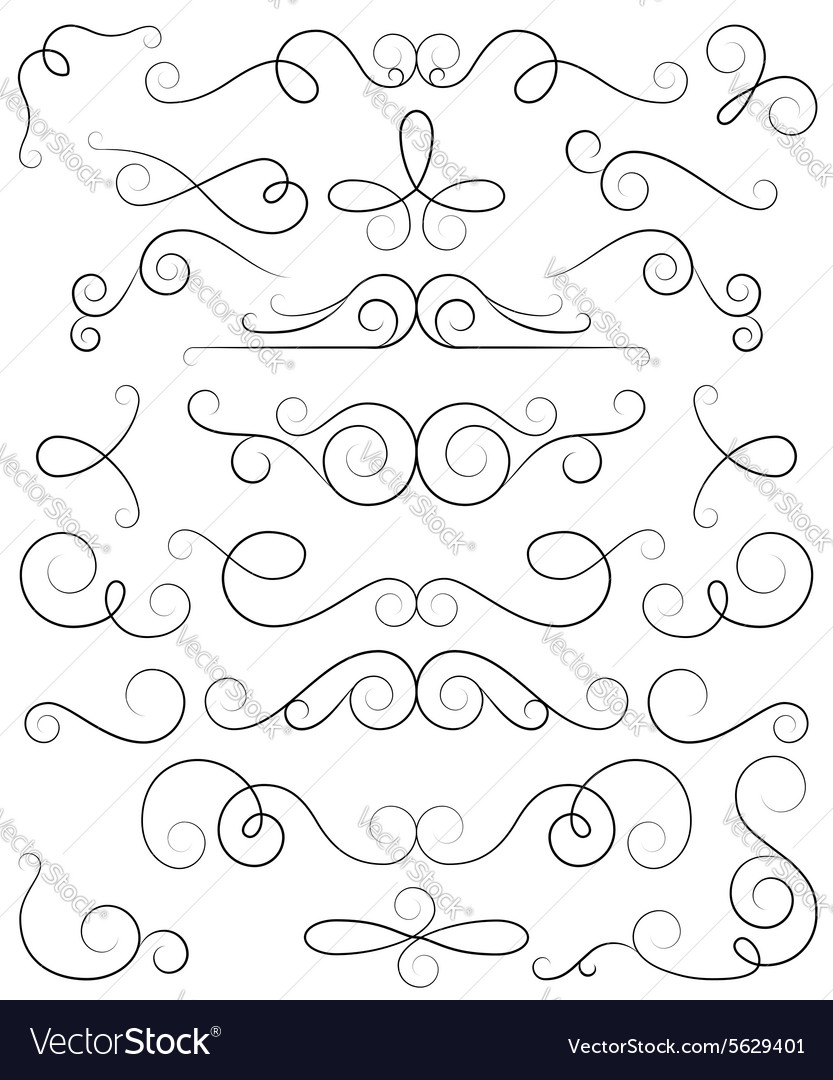 Decorative curls and swirls collection