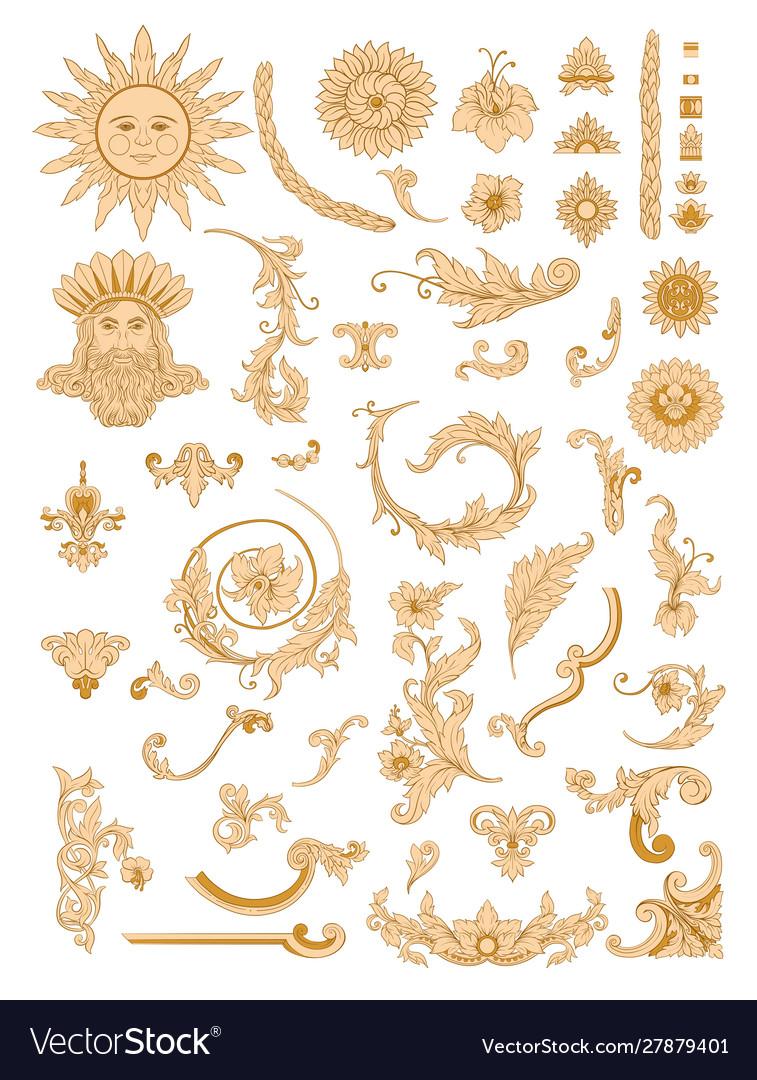 Elements in baroque rococo victorian