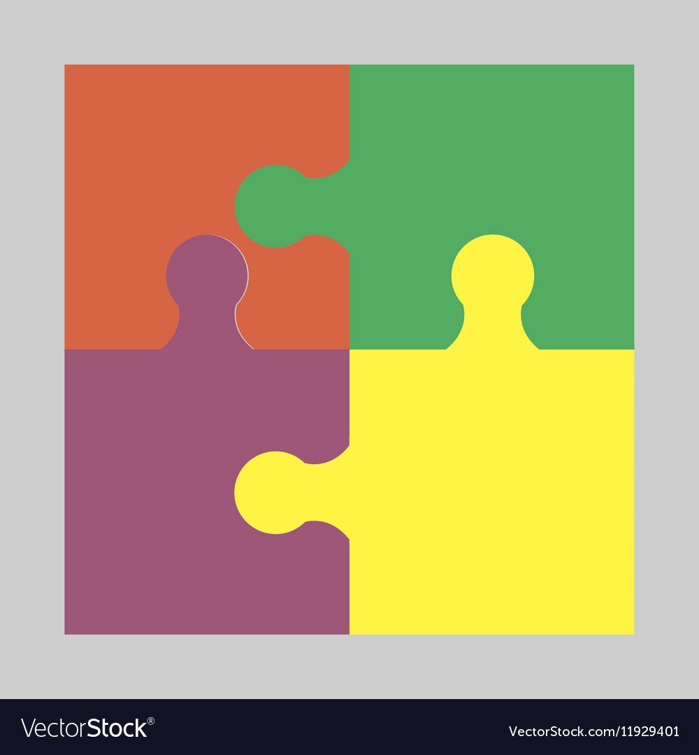 Four colorful puzzle