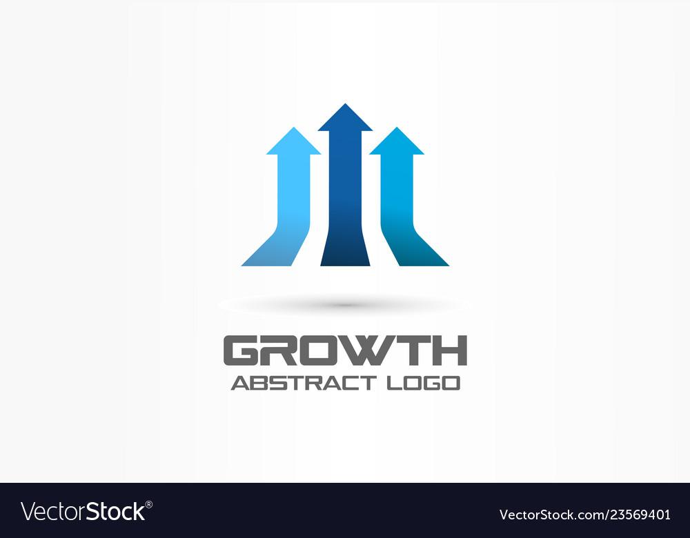 Growth creative symbol concept leadership profit