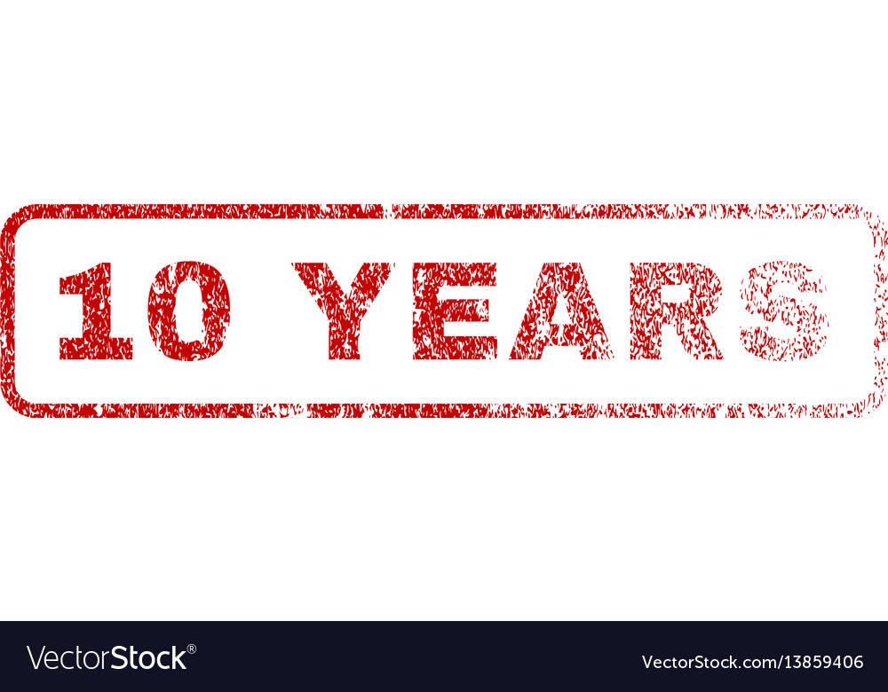 10 years rubber stamp