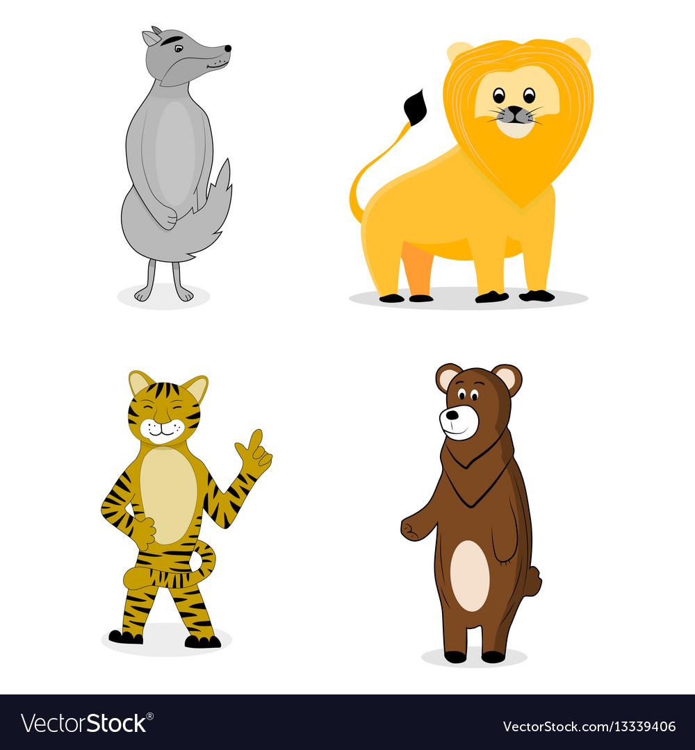 Animal cartoon set