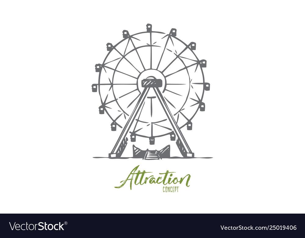 Attraction ferris wheel amusement