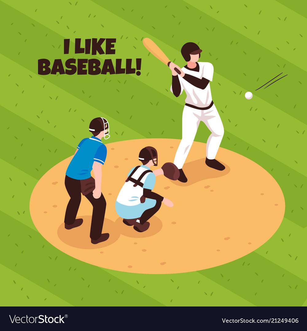 Baseball isometric