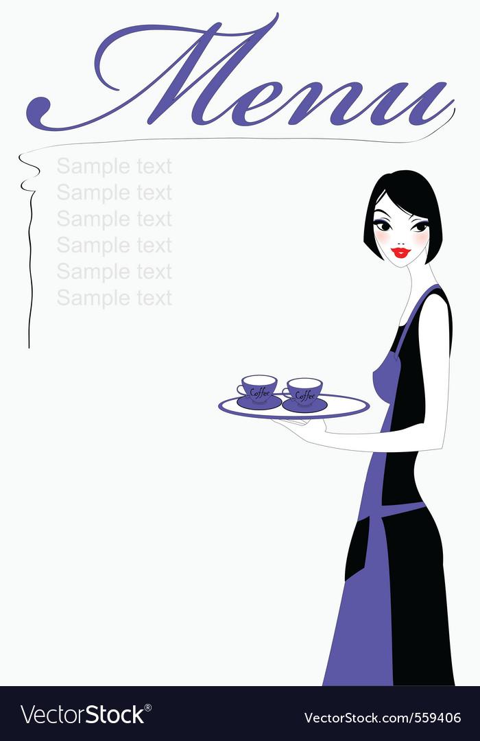Beautiful waitress