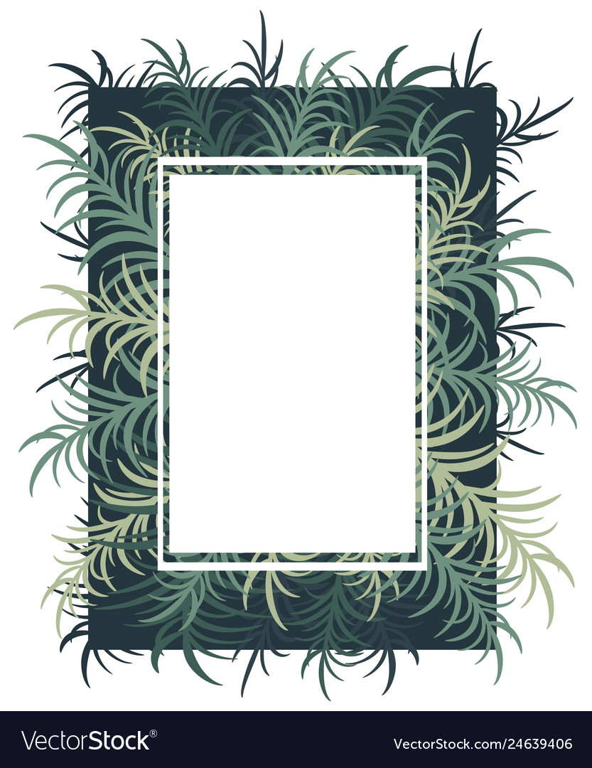 Botanical card with palm leaves image