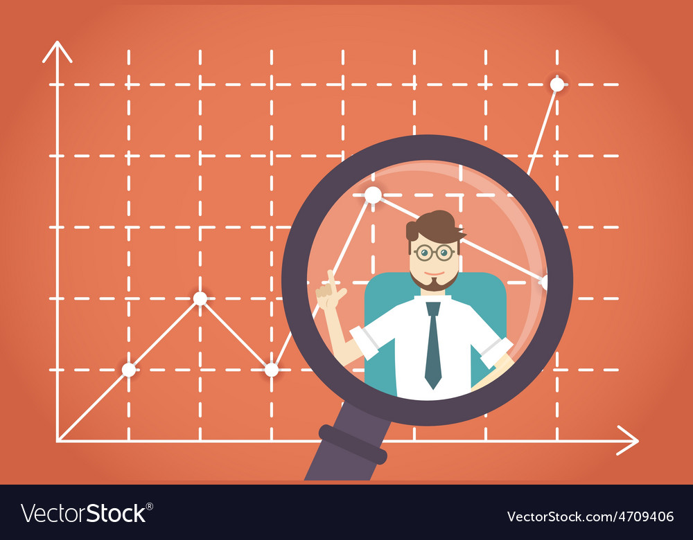 Business development by expert Business leader vector image