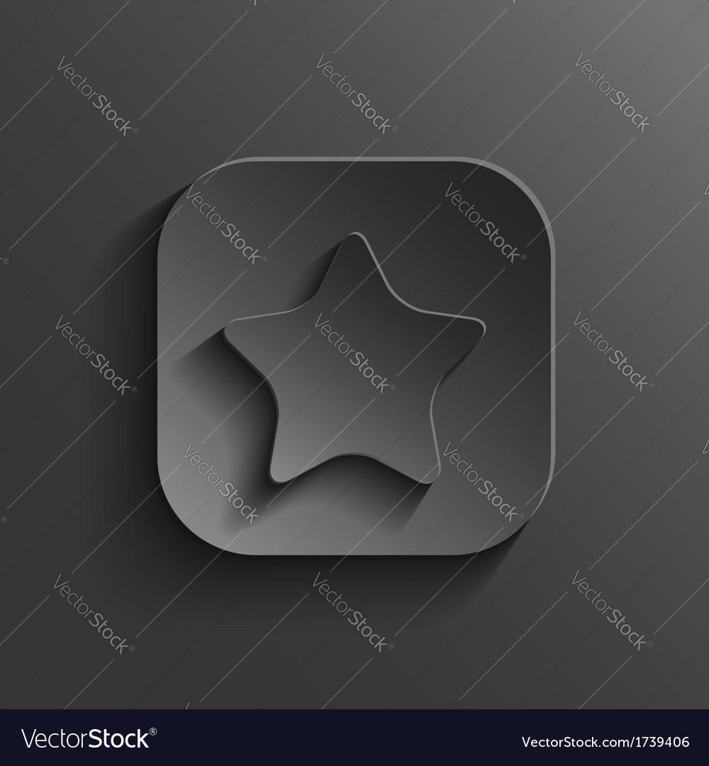 Star icon - black app button