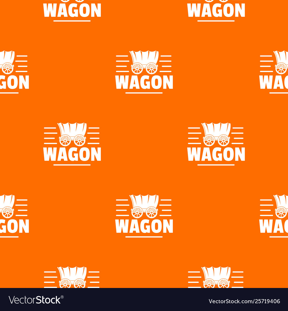 Wagon pattern orange