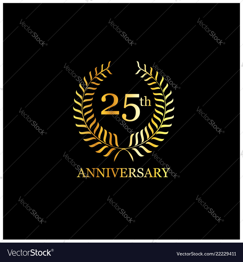 25 anniversary design typography