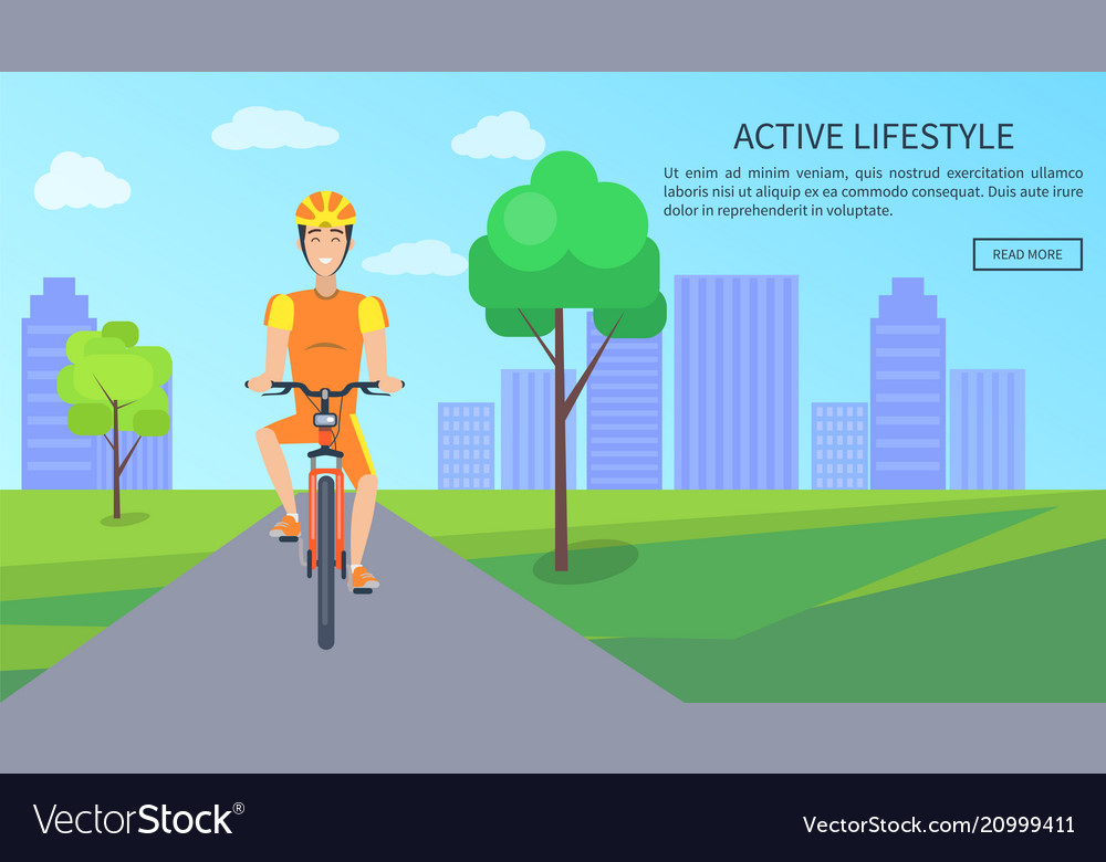 Active lifestyle colorful card
