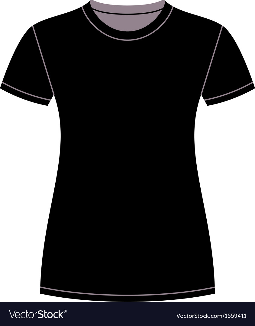 Black T Shirt Design Template Royalty Free Vector Image