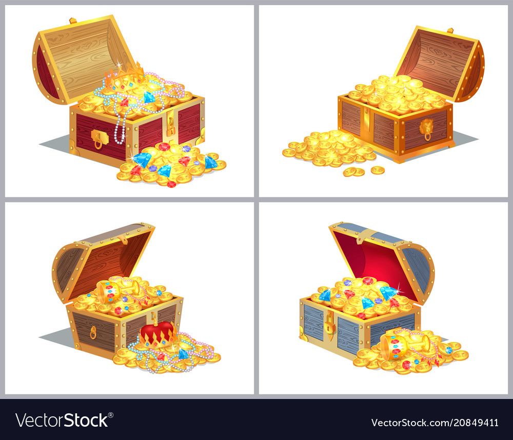 Chest with treasures set