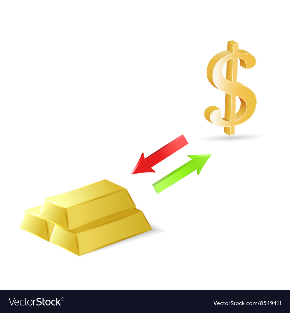Dollars Into Gold Royalty Free Vector Image
