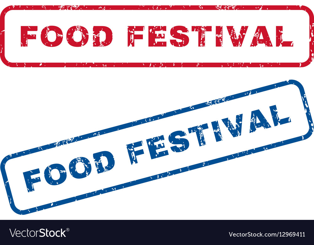 Food Festival Rubber Stamps vector image