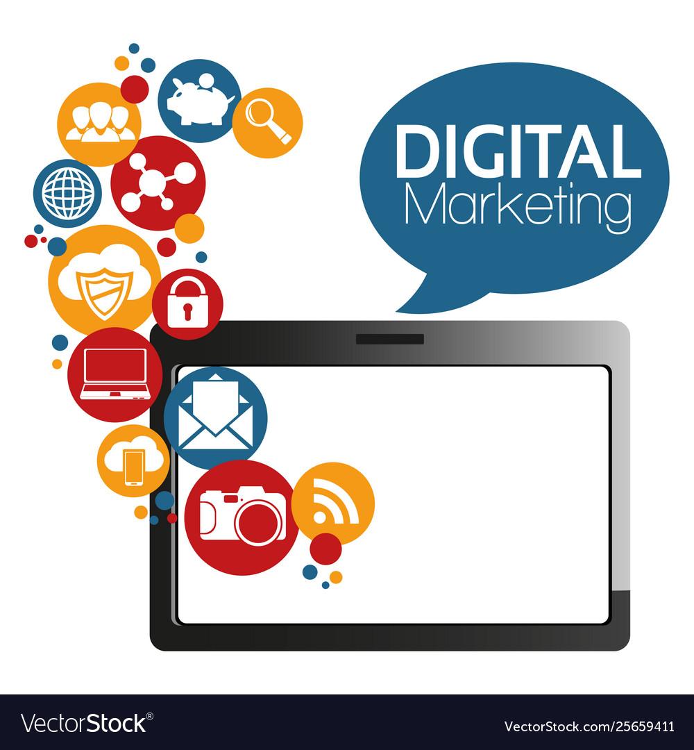 graphic digital marketing royalty free vector image https www vectorstock com royalty free vector graphic digital marketing vector 25659411