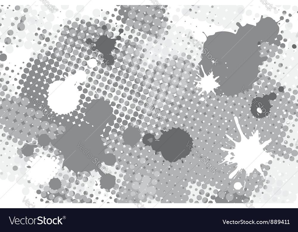 Halftone spot grunge background