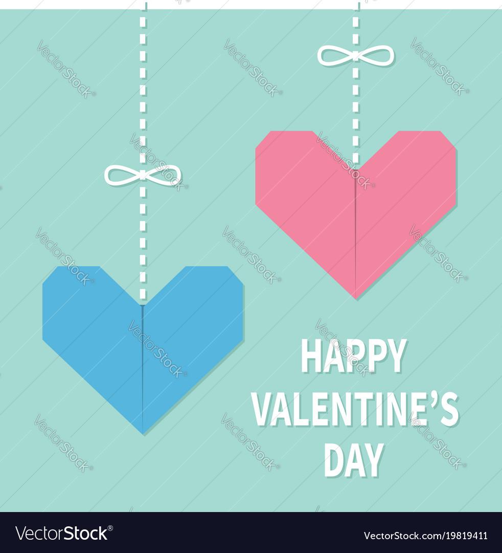 Happy valentines day sign symbol pink blue