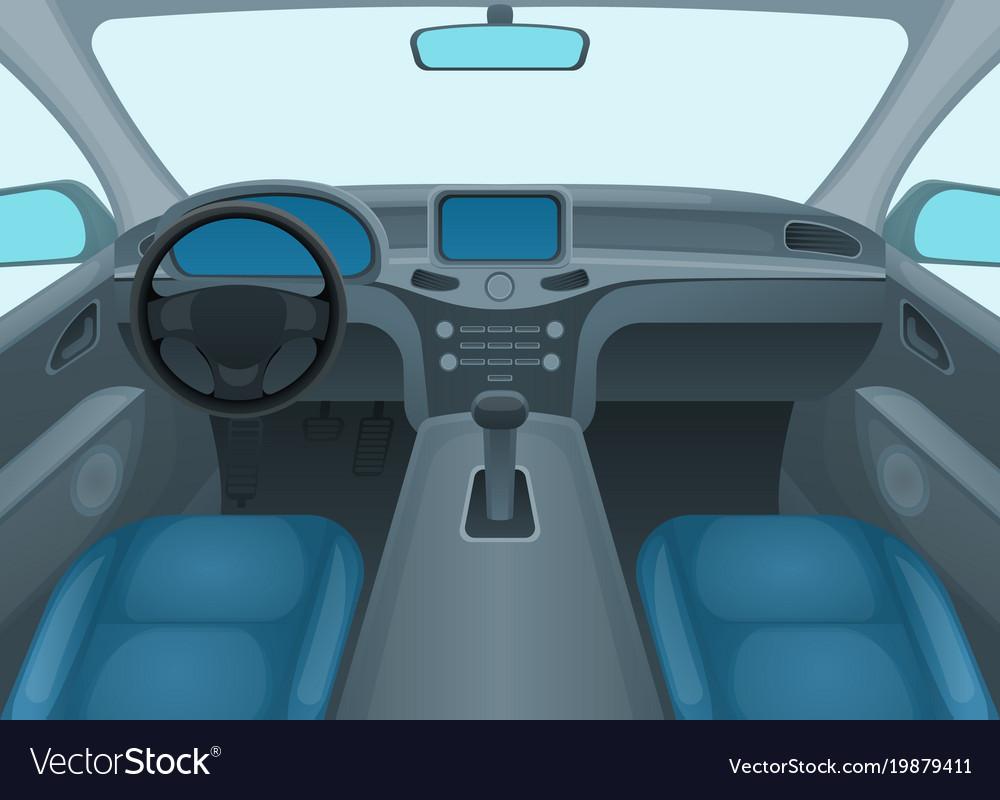 Auto Interior Royalty Free Vector Image