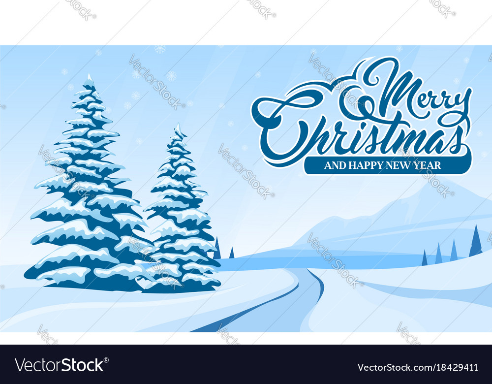 Invitation card merry christmas and happy new year