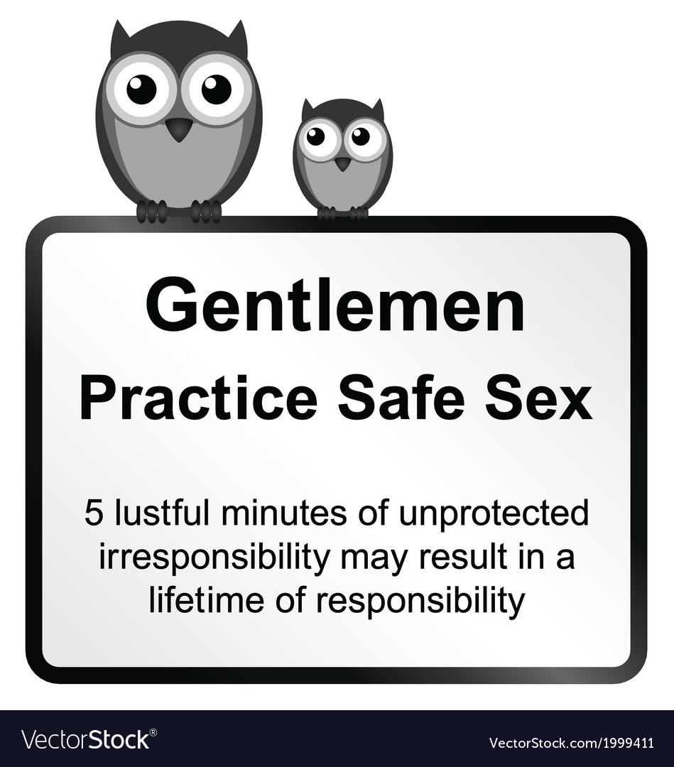 Practice safe sex vector image