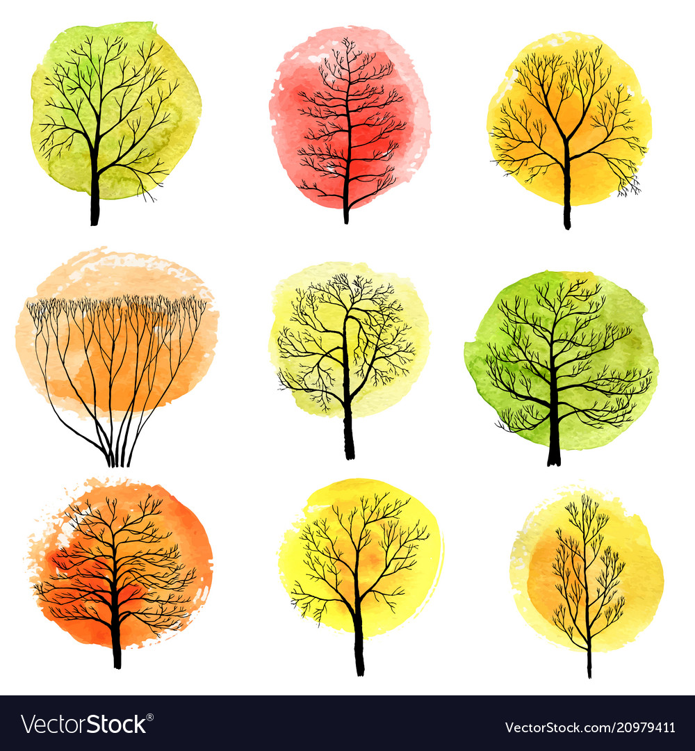 Set deciduous trees