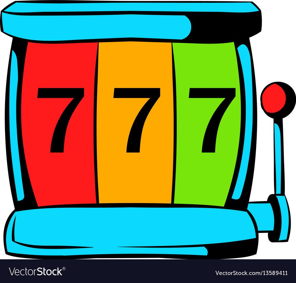 Slot machine jackpot icon icon cartoon