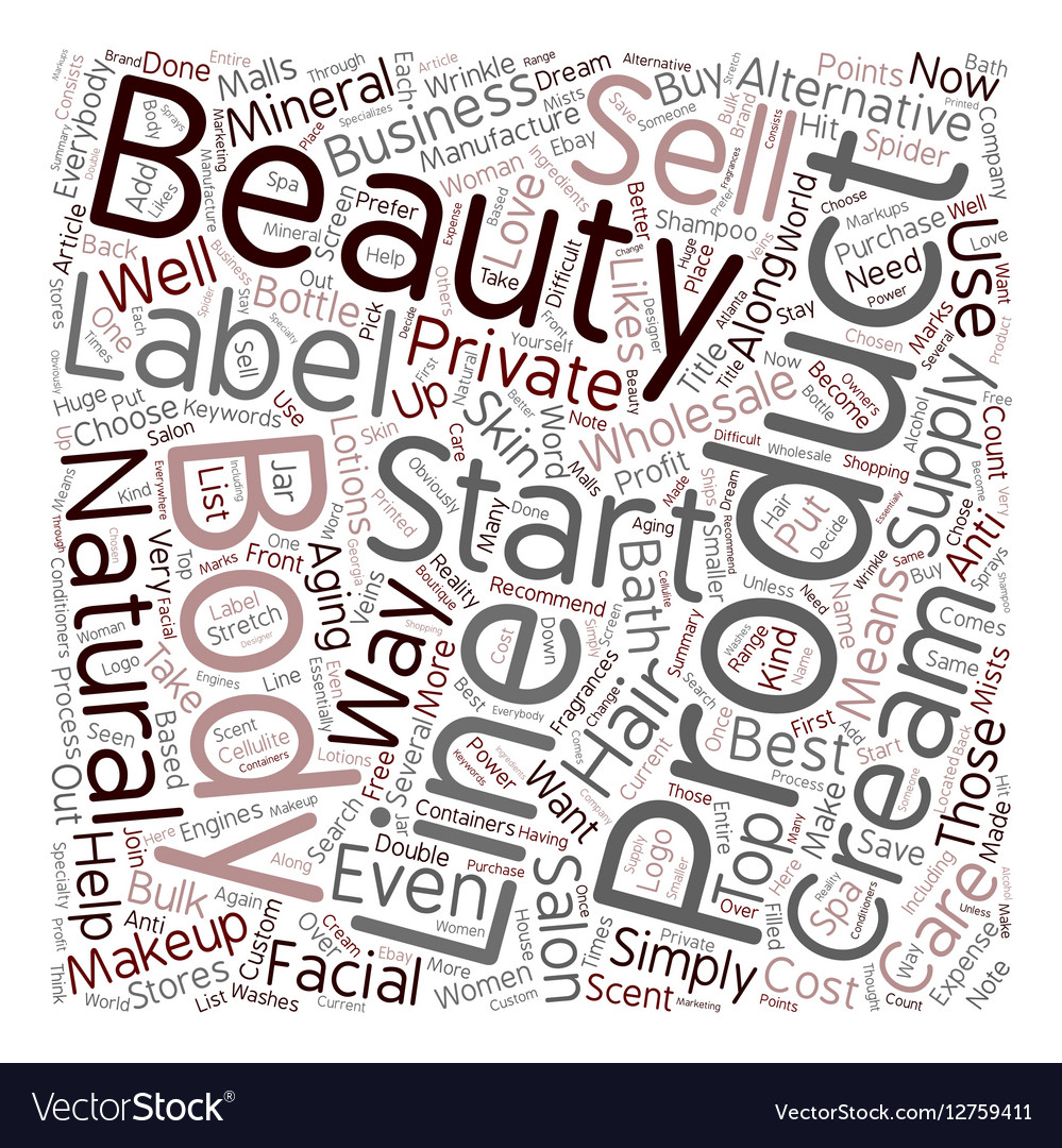 Start Your Own Beauty Supply Business Wholesale vector image