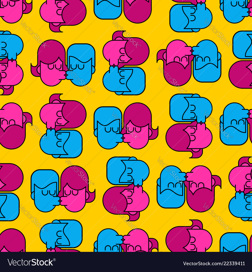 Swinger party seamless pattern guy and girl sex