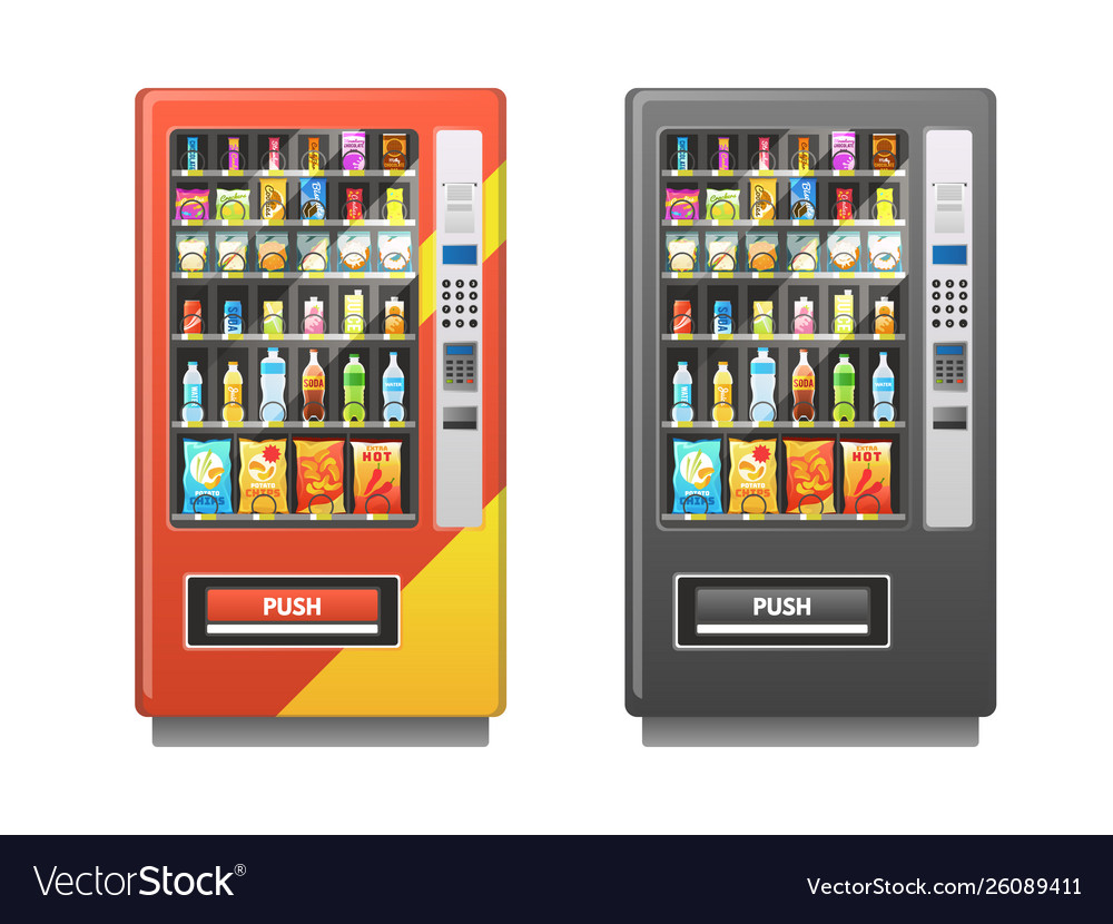 Vending machine snacks sandwich biscuit chocolate